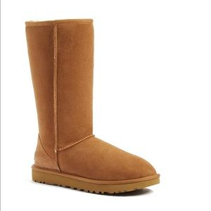 Ugg genuine shearling tall boot in brown